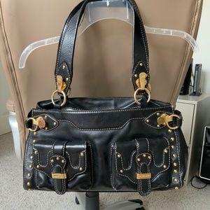 Black Leather Michael Kors Handbag